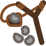 Slingshot With Stones