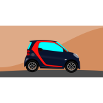 Animation of a mini car