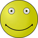 Outlined smiley