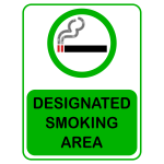 Vector graphics of green designated smoking area sign