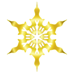 Vector illustration of decorated gold snow flake