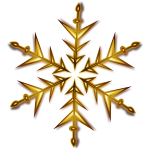 Vector illustration of golden snowflake