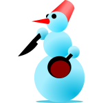 Snowman Cannibal Vector Graphics