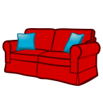 sofa - coloured