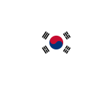 South Korea Map Flag
