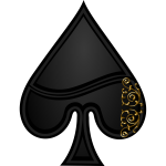 Vector image of spade playing card symbol