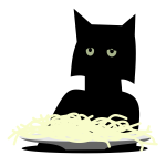 Spaghetti cat vector image