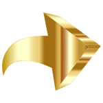 Sparkling Gold 3D Arrow