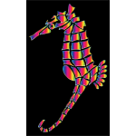 Spectral Stylized Seahorse Silhouette