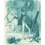 Man and skeleton