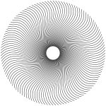 Spiral line circle vector drawing