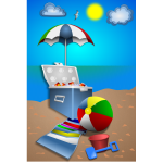 Beach fun set vector image