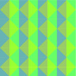 Pattern with green squares