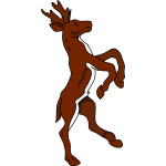 Stag on back legs