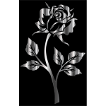 Stainless Steel Rose Silhouette