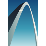 Vector illustration of stainless steel arch