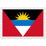 Antigua and Barbuda flag stamp