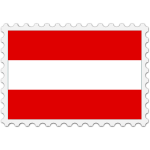 Austria flag stamp