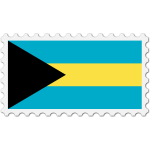 Bahamas flag stamp