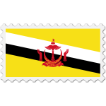 Brunei flag stamp