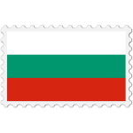 Bulgaria flag stamp
