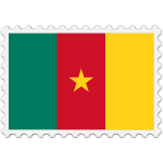 Cameroon flag stamp