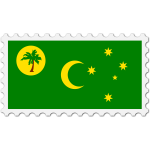 Cocos Island flag stamp