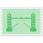 English stamp image