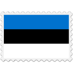 Estonia flag stamp