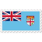 Fiji flag stamp