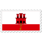 Gibraltar flag stamp svg