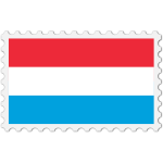 Luxembourg flag stamp