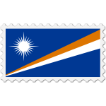 Stamp Marshall Islands Flag
