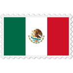 Mexico flag stamp