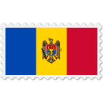 Stamp Moldova Flag