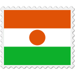 Stamp Niger Flag