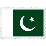 Stamp Pakistan Flag