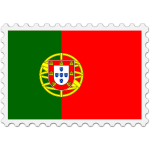 Stamp Portugal Flag