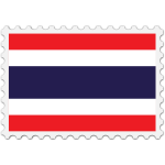 Stamp Thailand Flag