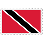 Trinidad and Tobago flag stamp