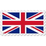 United Kingdom flag stamp