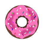 Stars and sprinkles donut