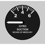 Piper Gyro Suction Gage
