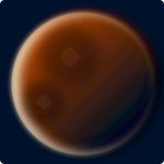 Red planet color vector illustration