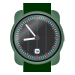 Analog wristwatch vector clip art