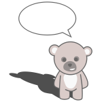 Talking teddy bear vector clip art