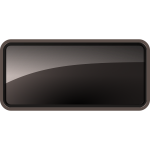 Glossy Rectangle Black