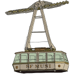 Vector illustration of aerial tramway