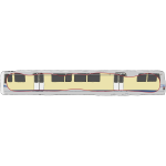 Bay Area Rapid Transit carriage vector illustration