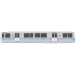Bart Train car vector graphics